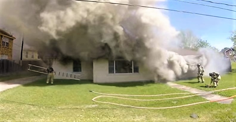 Photo of Arrival video & radio traffic from Houston, Texas house fire