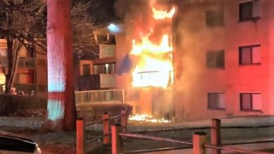Photo of Early video from 3-alarm apartment fire in Virginia