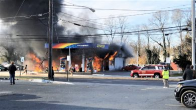 Photo of Pre-arrival video & radio traffic from 2-alarm Maryland service station fire