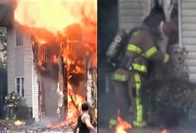 Photo of Must see video: Neighbor bypasses firefighter to rescue woman at Alabama apartment fire