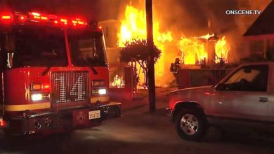 Photo of Early video from Los Angeles house fire
