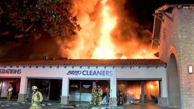 Photo of Video from commercial fire in California