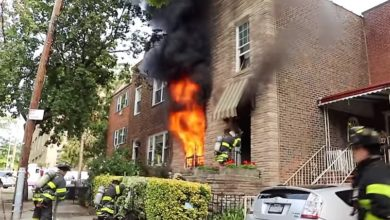 Photo of Early video of FDNY at a Queens house fire