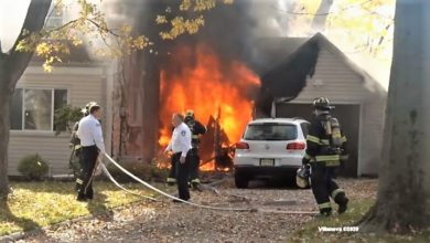 Photo of Pre-arrival video: two-alarm New Jersey house fire