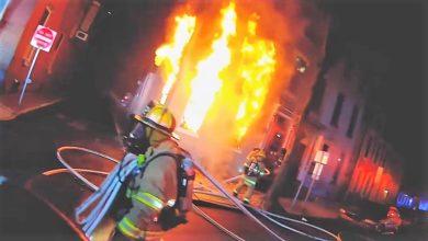 Photo of Helmet-cam video & radio traffic from Pennsylvania fire